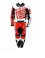 Honda Motorrad Lederkombi in schwarz rot weiß Farbe