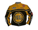 LUCKY STRIKE gelbe Farbe schwarz Biker Lederjacke