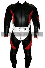 One piece Motorrad Lederkombi schwarz weiß rot