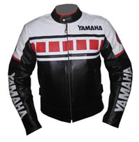 Schwarz und Weiß Farbe Yamaha Motorrad Lederjacke