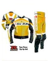 Suzuki GSXR Motorrad Lederkombi Gelbe Farbe