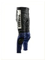 Yamaha Blau und Schwarz Motorrad Lederhose