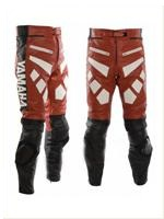 Yamaha rot und schwarz Motorrad Lederhose