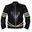 neue X-Men-Stil schwarze Farbe weichen Anilin-Leder-Jacke