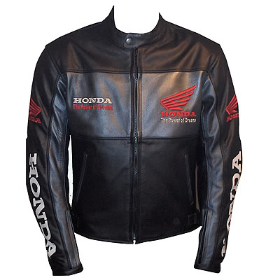 honda noir blouson moto en cuir de course. Black Bedroom Furniture Sets. Home Design Ideas