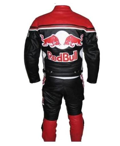 red bull moto motard costume en cuir de course. Black Bedroom Furniture Sets. Home Design Ideas