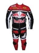 Red Bull moto motard costume de cuir