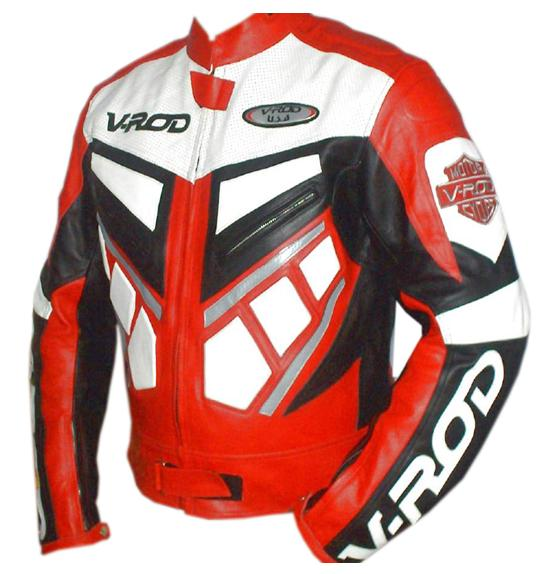 Rouge En Course V De Rod Moto Veste Cuir n8UaB0q