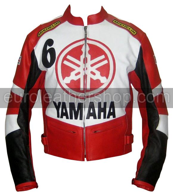 yamaha 6 blanc rouge noir veste de moto. Black Bedroom Furniture Sets. Home Design Ideas