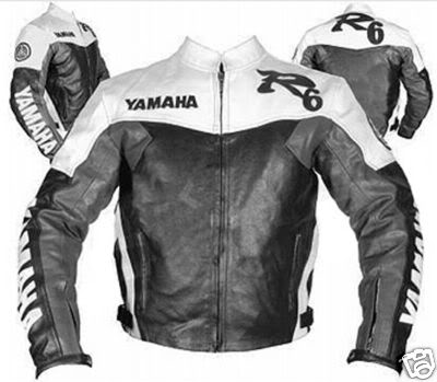 yamaha r6 blanc noir et gris veste en cuir de couleur de la moto. Black Bedroom Furniture Sets. Home Design Ideas
