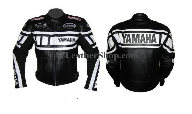 l gant yamaha comp tition moto veste en cuir. Black Bedroom Furniture Sets. Home Design Ideas