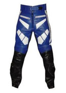 YAMAHA Blue black and white Color Motorbike Leather pant