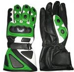 Green Color Motorcycle Leather Gloves