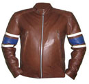 stylish dark brown soft leather jacket