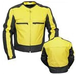 Yellow Black Motorbike Jacket