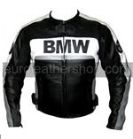 BMW motorrad leather jacket in black white grey co