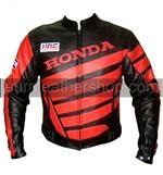 Black Colour Honda Motorcycle Racing Leather Jacke