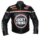Black Lucky Strike Motorycle Jacket
