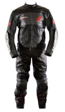 Honda Racing Black Color Leather Suit