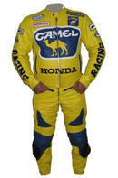 Honda Camel Yellow Color Leather Suit