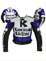 Kawasaki Racing LeatherJacket Blue Color