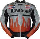 Kawasaki Flame Style Motorcyle Jacket