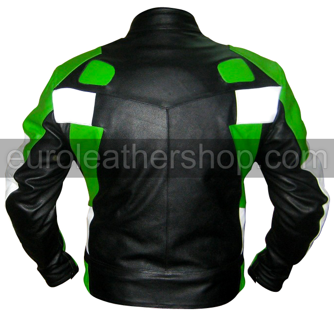 Black and green leather jacket – Modern fashion jacket photo blog