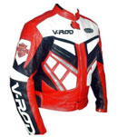 V-ROD Racing Motorcycle Leather jacket Red