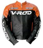 V-ROD Motorcycle Leather Jacket Orange