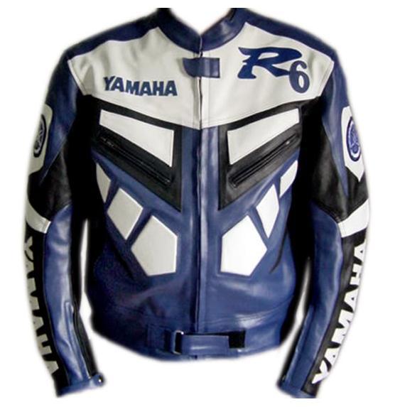 Blue Yamaha Leather Jacket Blue Dianese