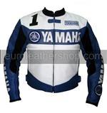 Yamaha 1 Joe Rocket motorcycle leather jacket in b