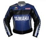 Yamaha Duhan 46 motorcycle leather jacket with silver collar