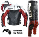 Yamaha R6 Motorcycle Leather Suit