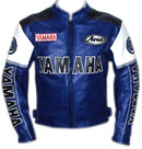 Yamaha Motorcycle Leather Jacket Blue