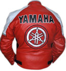 Yamaha Red & White Leather Jacket