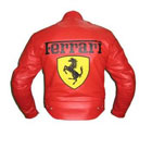 Ferrari Racing Motorcyle Leather Jacket