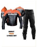 Harley Davidson V-ROD Orange Leather Suit