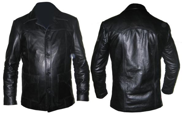 mens stylish black soft leather jacket