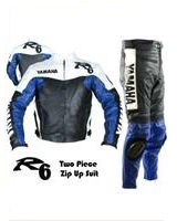 Yamaha R6 Blue Black White Motorcycle Racing Suit